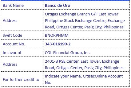 citisec bank account