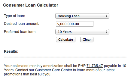 consumer loan calculator